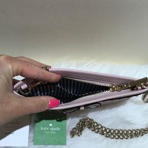 kate spade Bags - Kate Spade ♠️ soft pink sima clutch Crossbody nwt